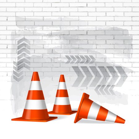 Under construction concept vector background Vector