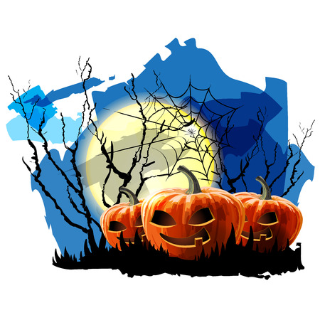 Halloween Party Background with Pumpkin Stock Vector - 23119720