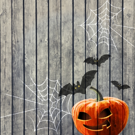 ful: Halloween Party Background with Pumpkin