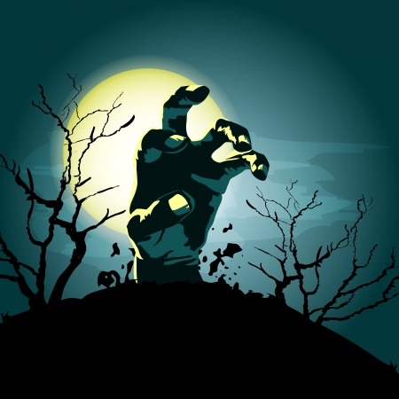zombie hand vector background Vector