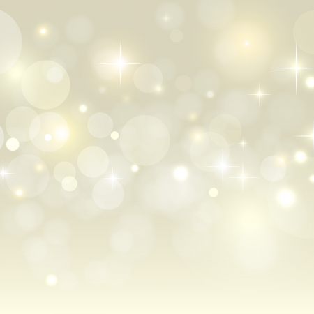 Holiday background with golden bokeh vector Vector