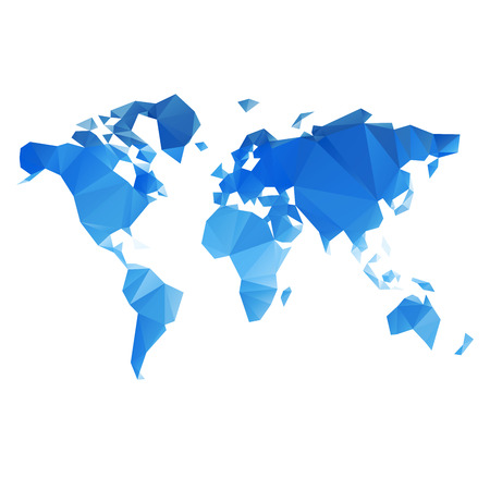 business asia: Triangolare Mappa del mondo