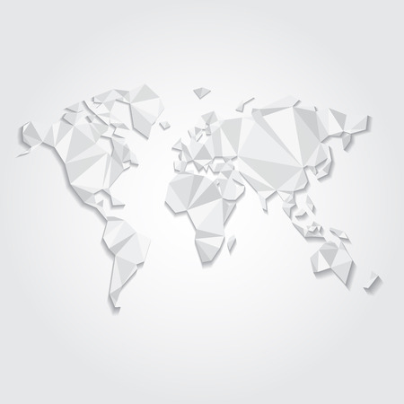 Colored world map triangle design royalty free cliparts vectors triangular world map vector file vector gumiabroncs Gallery