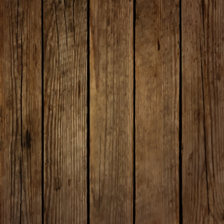 Dark wood board vector background Vector