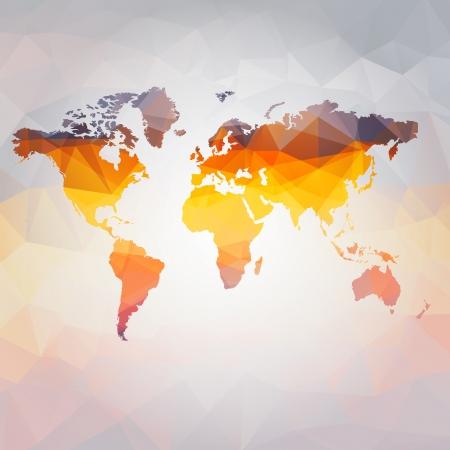 世界地図のベクトルの近代的な概念  イラスト・ベクター素材