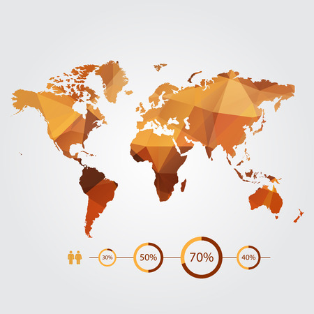 modern concept of world map with infographics elements Vector