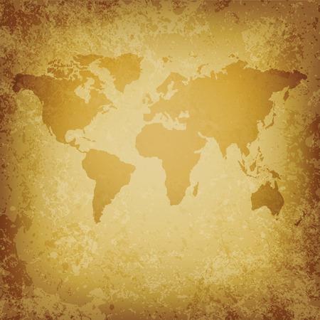 vector oude kaart van de wereld leeg sjabloonbestand