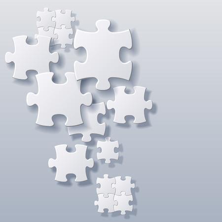 samenvatting spatie puzzels begrip vector achtergrond bestand
