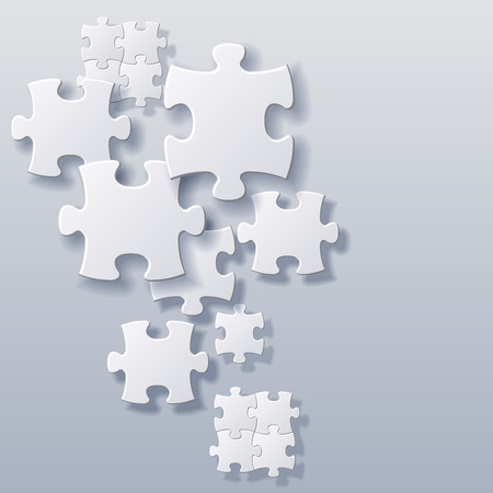 abstract blank puzzles concept vector  background file Illustration