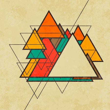 triangular shape: Triangular retro abstract background