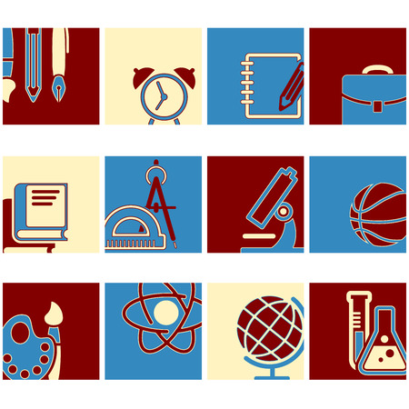 Education school symbol collection icons Vector