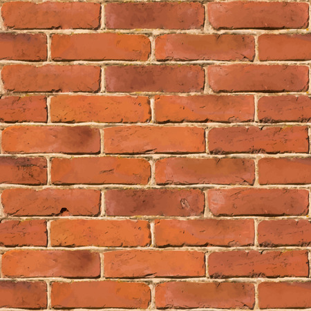 old brick wall: Red brick wall seamless vector texture