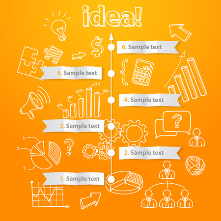 new generation: Process of idea generation, business illustration, vector