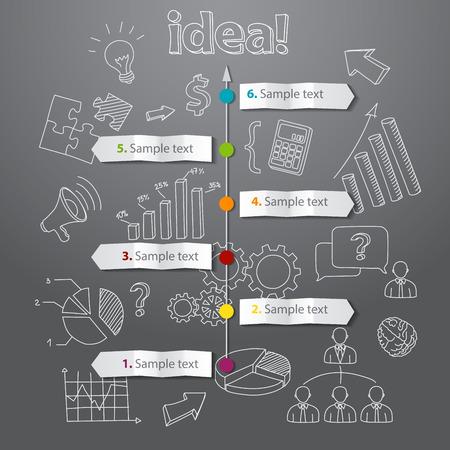 Timeline idea generation concept vector background