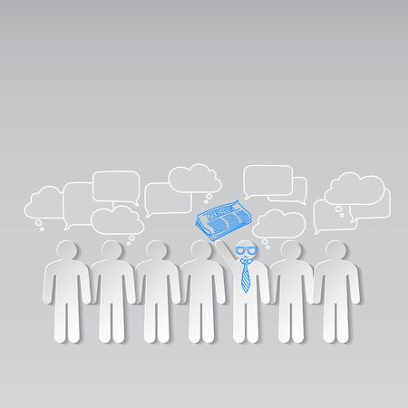 teamleider: Zakelijk nieuws teamleider teamwork communicatie vector