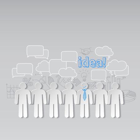 organisation: Business people communication teamwork idea vector Illustration
