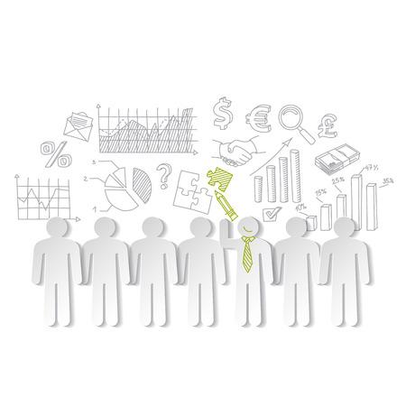 organization design: Business charts teamwork  and team leader vector