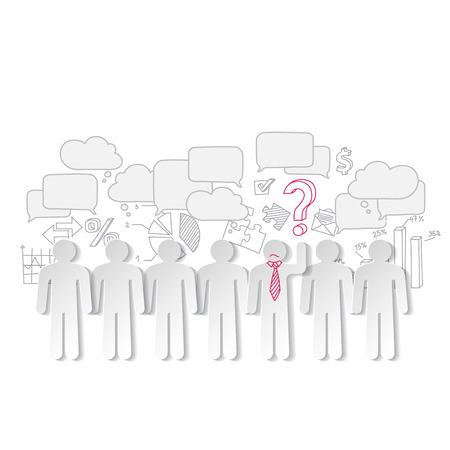 teamleider: Zakelijke grafieken teamwork en teamleider vector Stock Illustratie