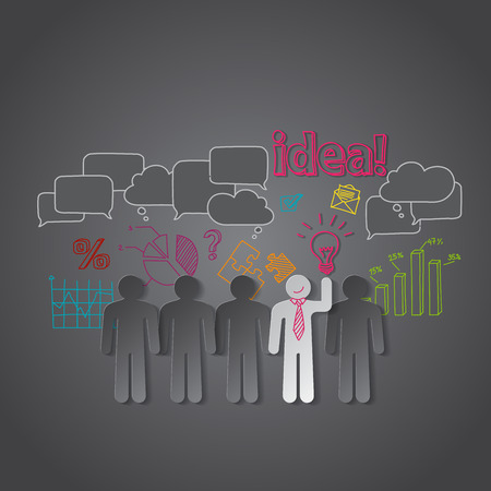Business people discussion group teamwork idea vector Vector