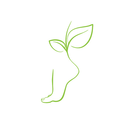 Healthy feet vector spa symbol 向量圖像