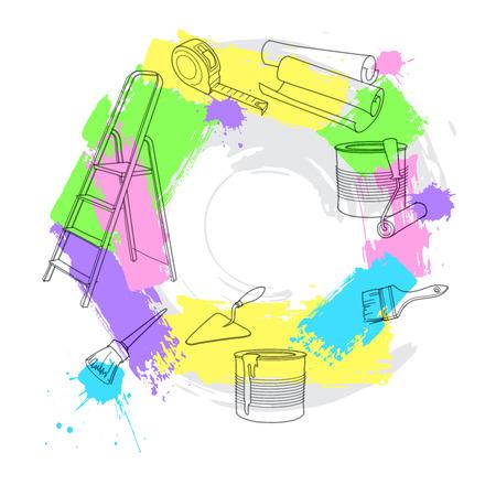 repair tools: Construction and repair tools. Vector illustration