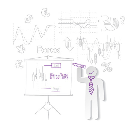 trading board: Forex training exchange trading, vector illustration