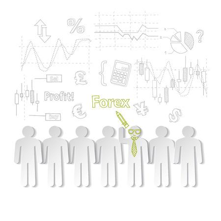 forex: Forex training exchange trading, vector illustration