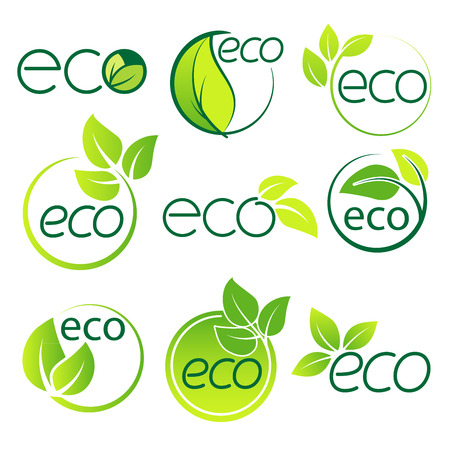 Ecology  logo symbol set vector file