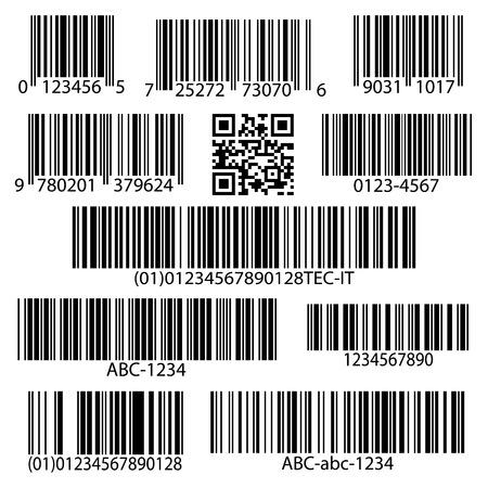 codigos de barra: Variedad c�digos de barras conjunto ilustraci�n vectorial