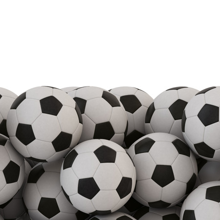 work path: Soccer Ball Background with Work Path