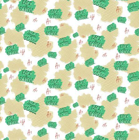 seamless pattern back to school vector illustration