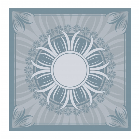 illustration of the blue vintage ornament  Radial form of lines  Stock Vector - 14656595
