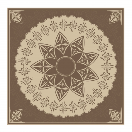 illustration of a vintage radial ornament  Colourised of blown  Copy Paste ready Stock Vector - 14655695