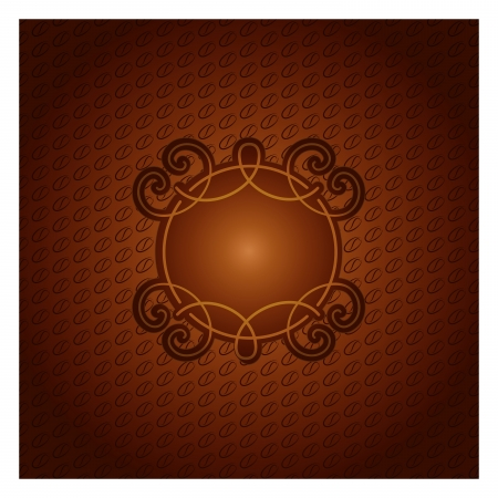 Illustratoion of coffee ornament background  Menu for restaurant, cafe, bar, coffeehouse Vector