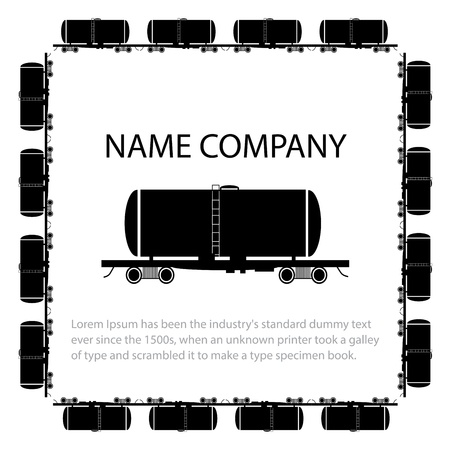 Invitation card with american style tank car,  illustration Vector