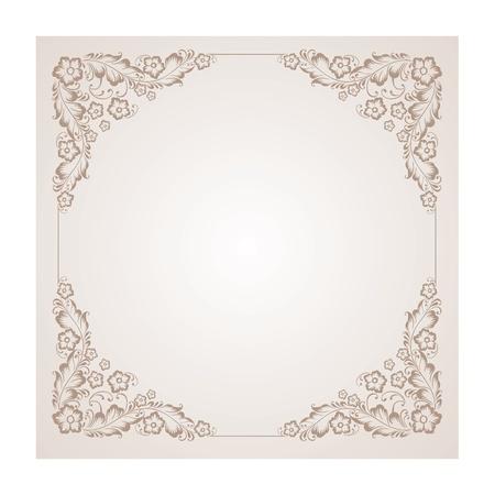 needlework: illustrazione di un ornamento radiale d'epoca nella piazza Colourized di illustrazione marrone