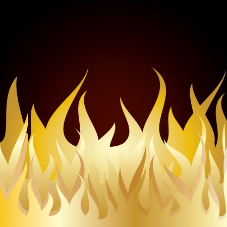 Burn flame fire  with brown background   Illustartion Stock Vector - 14699167