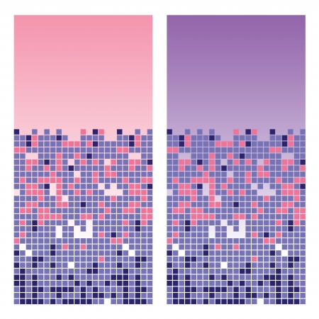 Two cards of abstract squares background.  illustration. Stock Vector - 14699155