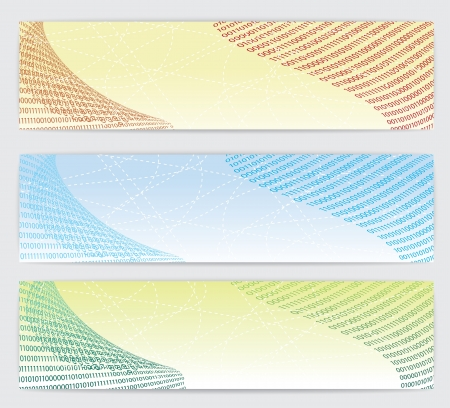 Set of three banners, technical background    Stock Vector - 15398961