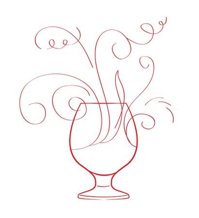 booze: Red wine splash isolated on white