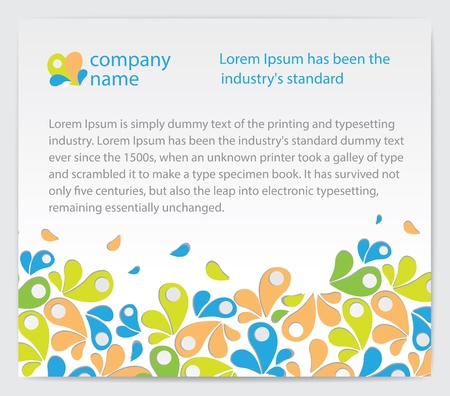Company invitation card with abstractions on background   illustration