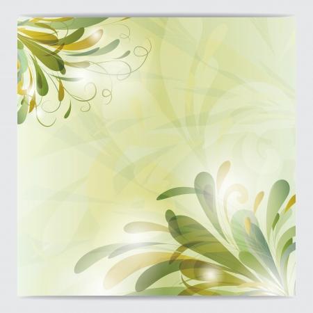 Splashes of green liquid from corner illustration