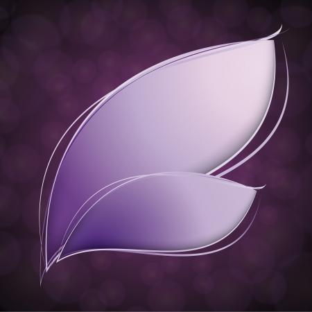 a pink cell: Violet leaves over blur background  Illustration