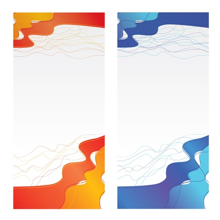 Set of banners, abstract background Stock Vector - 15732224