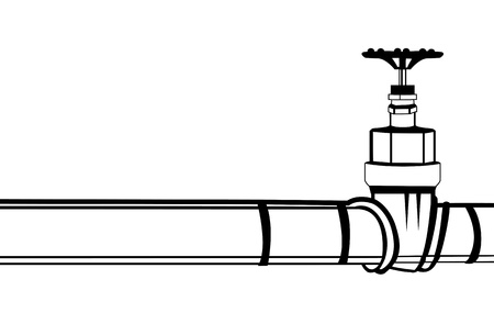 Industrial pipeline and Gas valve  Vector