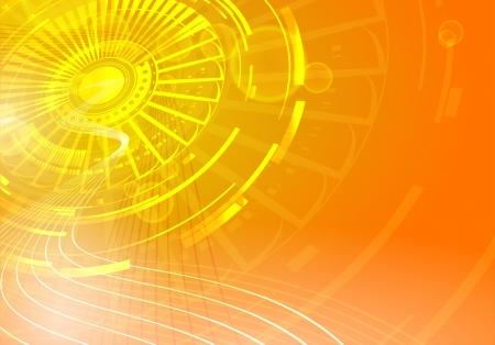 Yellow sun over orange sky Stock Vector - 15756677