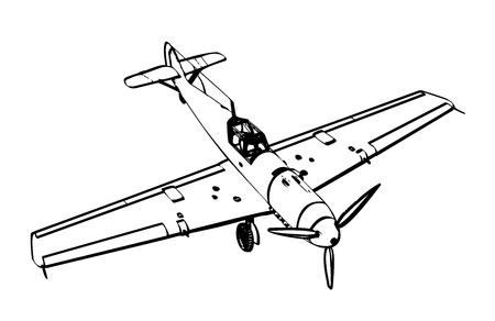 WW2 German messerschmitt bf 109 fighter plane  illustration  Stock Vector - 15800131