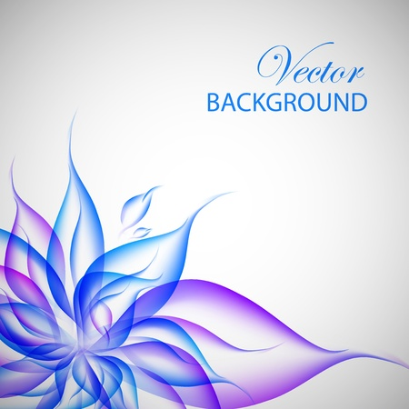 flowery: Abstract business colorful violet flower