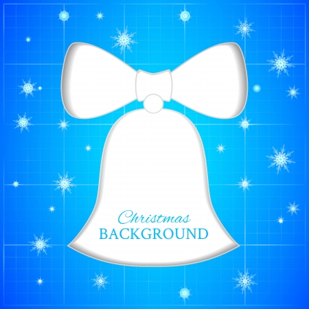 Christmas bell blueprint with snowflakes  Vector illustration  Vector