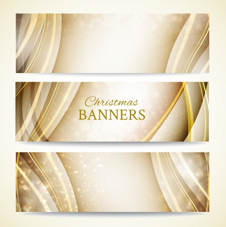 Gold christmas background for your business   illustration Stock Vector - 16111306